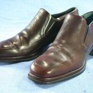 JOAN & DAVID BURGUNDY LEATHER HEELED LOAFERS SHOES 6 M