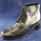 ROCKPORT WOMENS BLK LEATHER LACE ANKLE BOOTS 5 M EUC