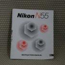 NIKON N55 CAMERA INSTUCTION BOOK OWNERS MANUAL - B308
