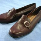 NATURALIZER $69 BURGUNDY LEATHER LOAFERS SHOE 6.5 M NEW