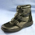 EASY SPIRIT WOMENS BLACK LEATHER ANKLE BOOTS WALKING 5