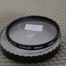 HOYA AUTH 55mm STAR-SIX SCREEN STAR LENS FILTER F989