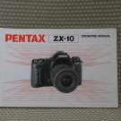 PENTAX ZX10  ZX-10 INSTUCTION BOOK OWNERS MANUAL - B316