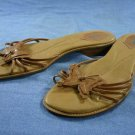 NICOLE LT BROWN STRAPPY BUTTERFLY SANDALS 10 M