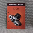 HONEYWELL PENTAX SP 500 OWNERS OPERATING  MANUAL - B197