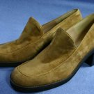 ENZO ANGIOLINI CAMEL SUEDE MID-HEEL LOAFERS SHOES 7.5 N