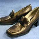 KENNETH COLE REACTION WOMENS Bronze Loafers 8 M NEW