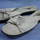 TOMMY BAHAMA LT BLUE RAW SILK SLIDE SANDALS 9 M MINT