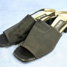 VAN ELI WOMENS BLACK OPEN TOE SLINGBACK SANDALS 9 N NEW
