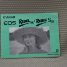 CANON EOS REBEL II S OWNERS INSTRUCTION BOOK - B186