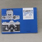 CANON ORIGINAL 1960's FT USER OWNERS MANUAL MINT- B226
