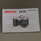 PENTAX ZX-50  INSTUCTION BOOK OWNERS MANUAL - B268