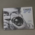 CANON ORIGINAL 1960's FT USER OWNERS MANUAL MINT- B297
