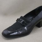 BRUNO MAGLI WOMENS BLK LEATHER LOAFERS 38.5/8 M EX+