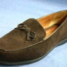 LANDS END WOMENS BROWN SUEDE LOAFERS SHOES 6.5 B