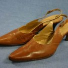 KENNETH COLE WOMENS BROWN LEATHER SLINGBACK PUMPS 6 M