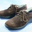 NINE WEST BROWN SUEDE LEATHER OXFORDS SHOES 5.5 M