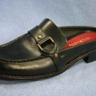 AEROSOLES MULES CLOGS BLACK LEATHER SHOE 6.5 M MINT