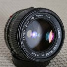 Canon FD N 50mm f/1.4  Prime Lens F-1 A-1 T90 EX++