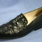 JOAN & DAVID BLACK LEATHER LOAFERS FLATS SHOES 6 M EXCL