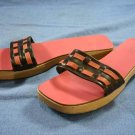 J CREW WOMENS PINK WOOD SOLE SLIDE SANDALS SHOES 9 M