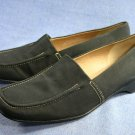 FRANCO SARTO BLACK FABRIC LOAFERS SHOES 8 M EXCL