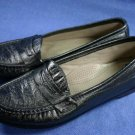 SAS PEWTER LEATHER COMFORT WALKING LOAFERS SHOES 10 N