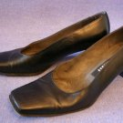 STUART WEITZMAN WOMENS BLACK LEATHER PUMPS/SHOES 7 B