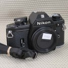 NIKON EM SLR 35mm Film Camera BLACK BODY MINT COND