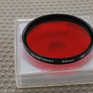 QUANTARAY AUTH 55mm R2 RED LENS FILTER MINT F909
