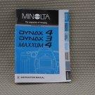 MINOLTA MAXXUM 4 INSTUCTION BOOK OWNERS MANUAL - B234