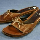 Linea Paolo Brown Leather Slide Sandals 10 N MINT