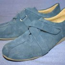 SAN MARINA PARIS BLUE SUEDE OXFORDS WALKING SHOES 6 M