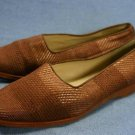 JONES NEW YORK BROWN WOVEN FABRIC FLATS 6.5 M MINT