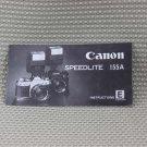 CANON SPEEDLITE 155A FLASH INSTRUCTION MANUAL B163