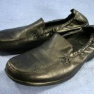 1803 womens BLACK LEATHER LOAFERS SHOES 9 M EXCL