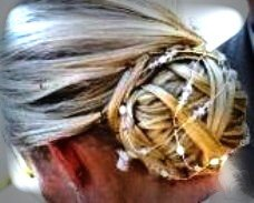 Swarovski Crystal, Pearl & Seed Bead  Hair Strand