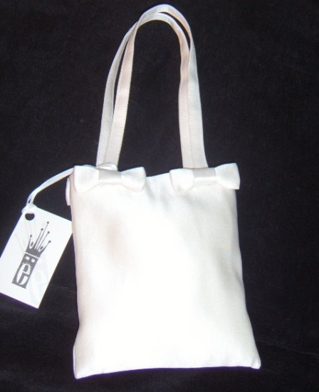 Erin Cole Silk Satin Bridal Purse with Bows
