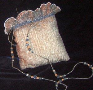 Silver Grey w/ Blue Lisa Violetto Evening Bag