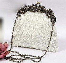 Vintage Elegance Framed Beaded Evening Bag