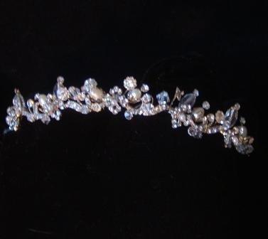 Madison Petite Crystal & Freshwater Pearl Tiara