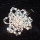 Fiona Large Freshwater Pearl, Seed Bead & Crystal Comb