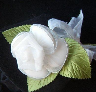 One Dozen Elegante Organza Rose Italian Confetti Flower