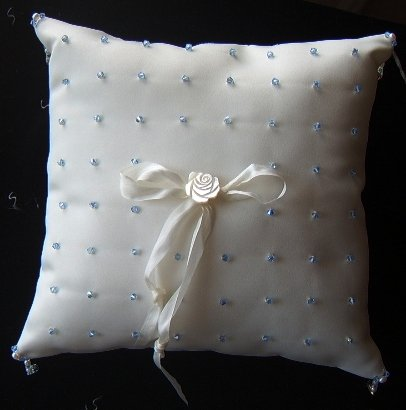 Crystal Creation Custom Ringbearer Pillow w/ Swarovski Crystals