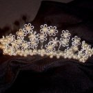 Dainty June Enameled Daisy Bridal Tiara by Debra Moreland for Paris