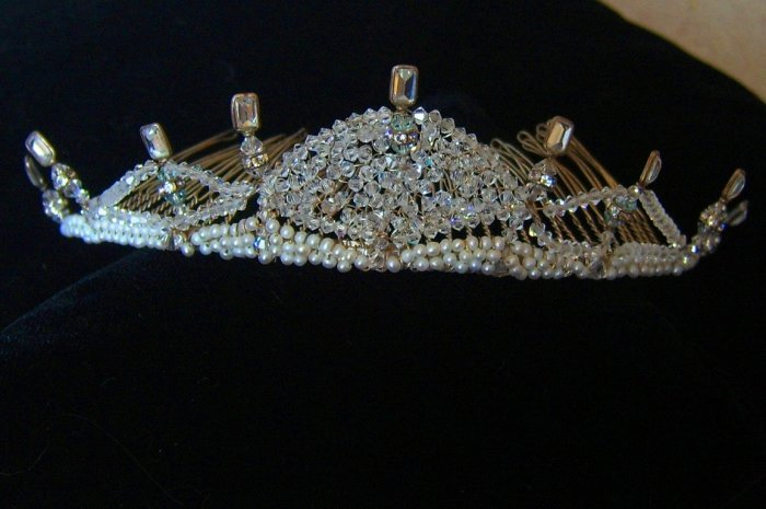 Brianna Crystal Tiara - Made in Any Color Swarovski Crystal