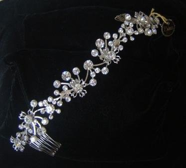 "Sparking ""Broadway Baby"" Tiara by Debra Moreland for Paris"