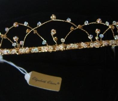 Thea Tiara in Gold and Aurora Borealis by Elizabeth Claire
