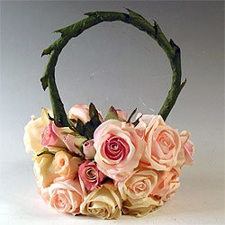 Roses  Flowergirl Basket - Custom made in any color or combination!
