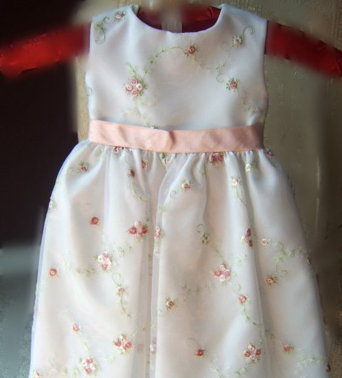 Climbing Pink Roses Infant  Special OccassionDress by Sara Lene